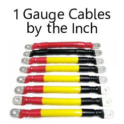 1 Gauge Cables By The Inch C to C