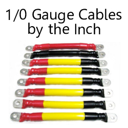 1/0 Gauge Cables By The Inch C to C